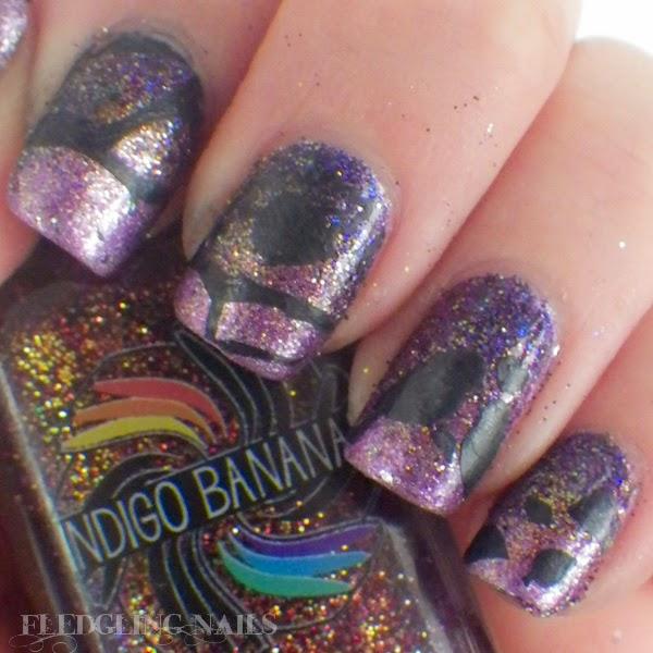 Nail Art London: Fledgling Nails: Nail Art: MoYou London Challenge Day 5