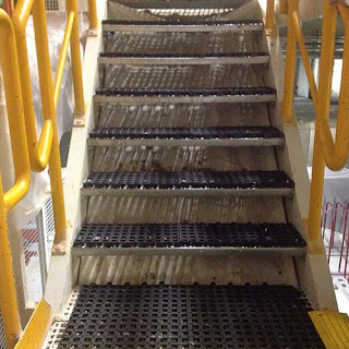 Greatmats Wearwell mats perforated tiles custom fatigue mats on stairs