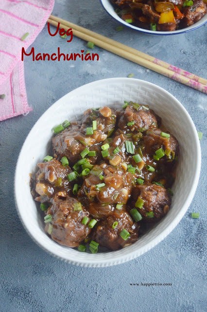 Veg Manchurian Gravy Recipe | Restaurant style Chinese Vegetable Manchurian Gravy
