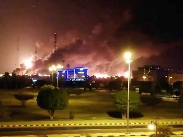 Drone attacks on Two Saudi Aramco facilities cause Fire