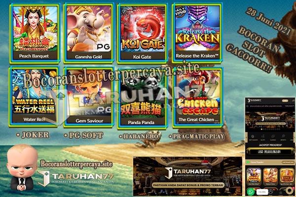 Bocoran Slot Online Dijamin Tembus dan  Gacor 28 Juni 2021