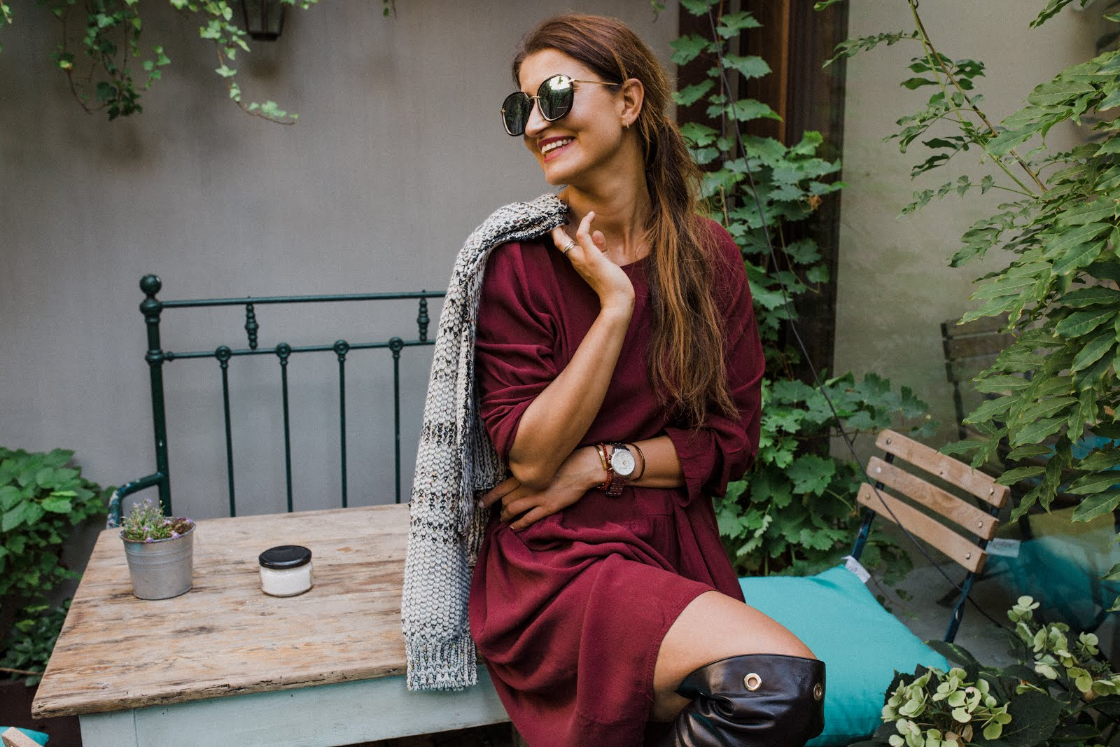 Jesienny kolorowy styl * kawa i przepyszne ciacha w jesiennych barwach