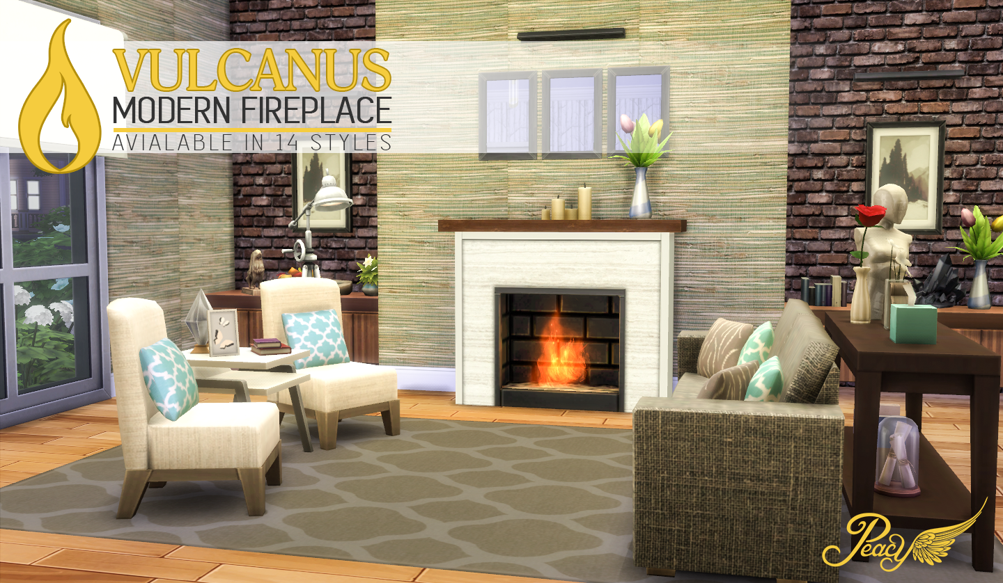 Chesterfield Sofa Sims 4 My Sims 4 Blog Vulcanus Modern Fireplace By Peacemaker Ic