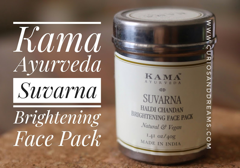 Kama Ayurveda Suvarna Brightening Face Pack, Kama Ayurveda Suvarna review, Kama Ayurveda face pack review