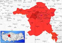 Ayaş ilçesinin nerede olduğunu gösteren harita