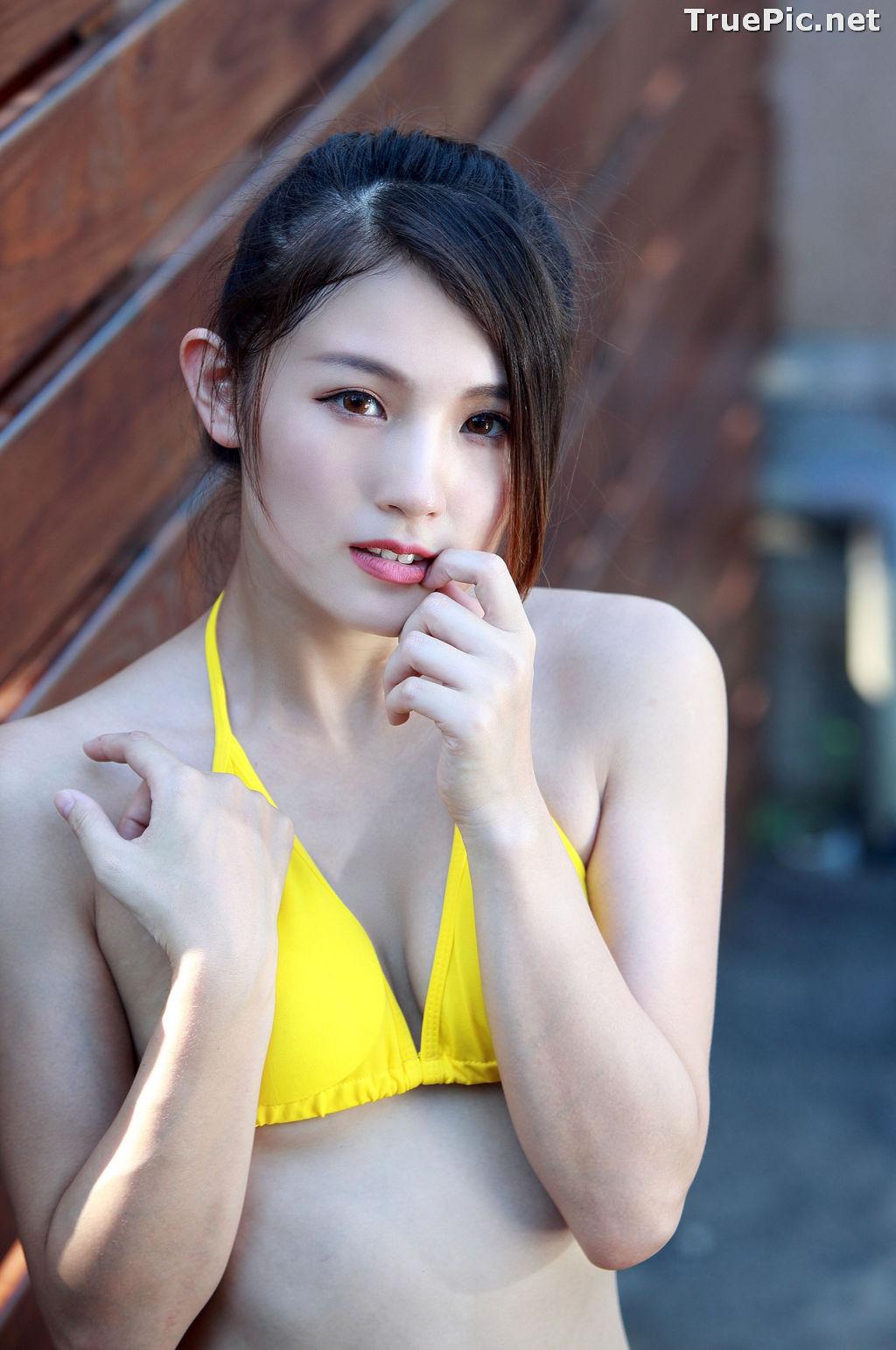 Image Taiwanese Model - 花巧娟 - Lovely and Pretty Yellow Bikini Girl - TruePic.net - Picture-6