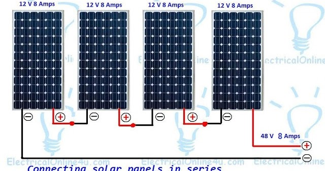 Connecting Solar Panels In Series Wiring Diagram & Calculation