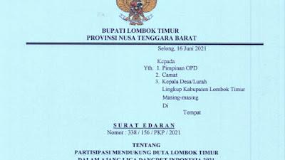 Beri Dukungan Pada Sulis LIDA, Pemkab Lotim Terbitkan Surat Edaran
