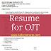 Sample Resume for OJT Student for Information Technology