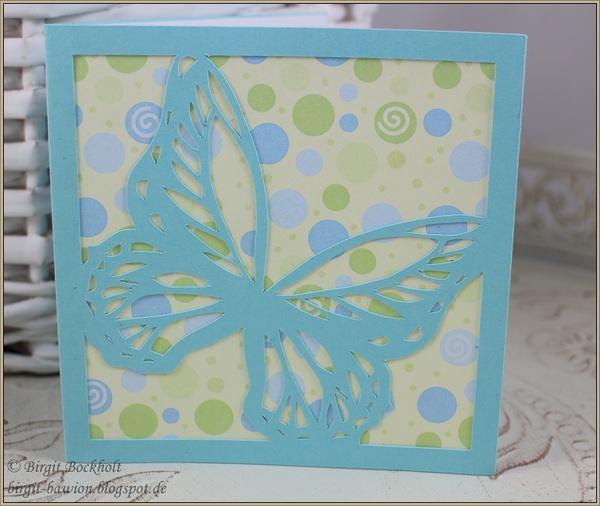 Schlichte Karte mit Schmetterling