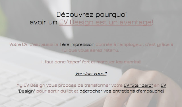 MyCVDesign: transformez votre cv standard en cv design