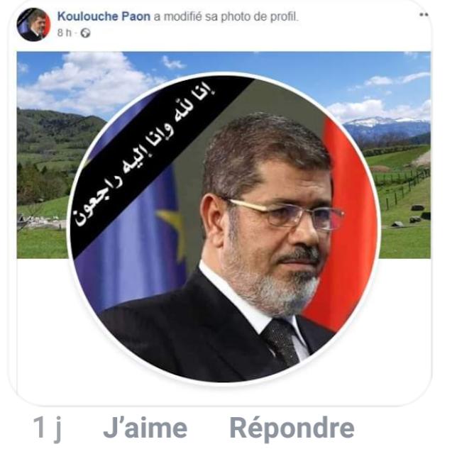 Sur sa page Facebook, Taous Hammouti exprima son deuil à la mort de Mohamed Morsi, leader des Frères Musulmans en Égypte