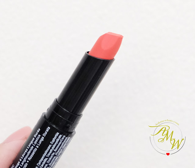 a photo of NYX Full Throttle Lipstick Review in shade JOLT