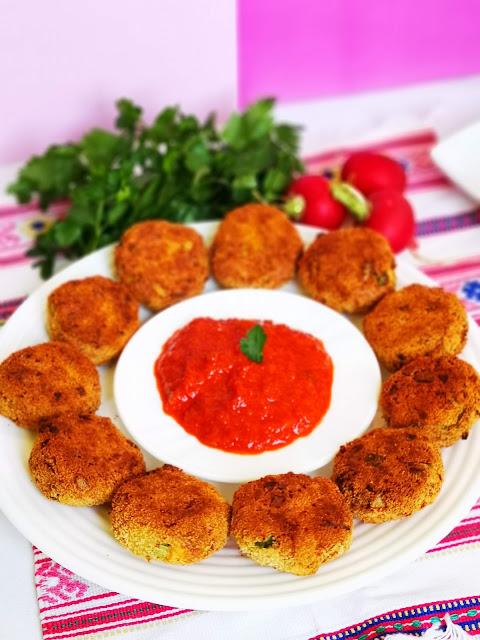 Chiftelute de linte rosie