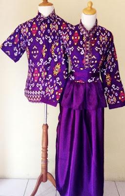 Model Gamis Batik Kombinasi Satin remaja