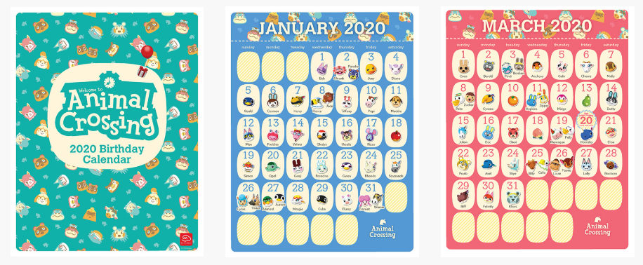 My Nintendo Adds Exclusive Animal Crossing 2020 Birthday Calendar