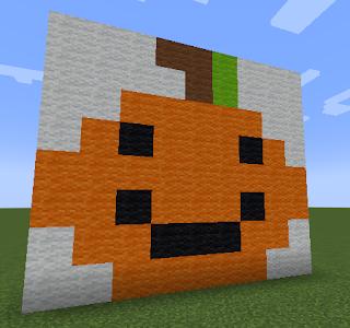 Halloween Pumpkin Pixel Art Minecraft