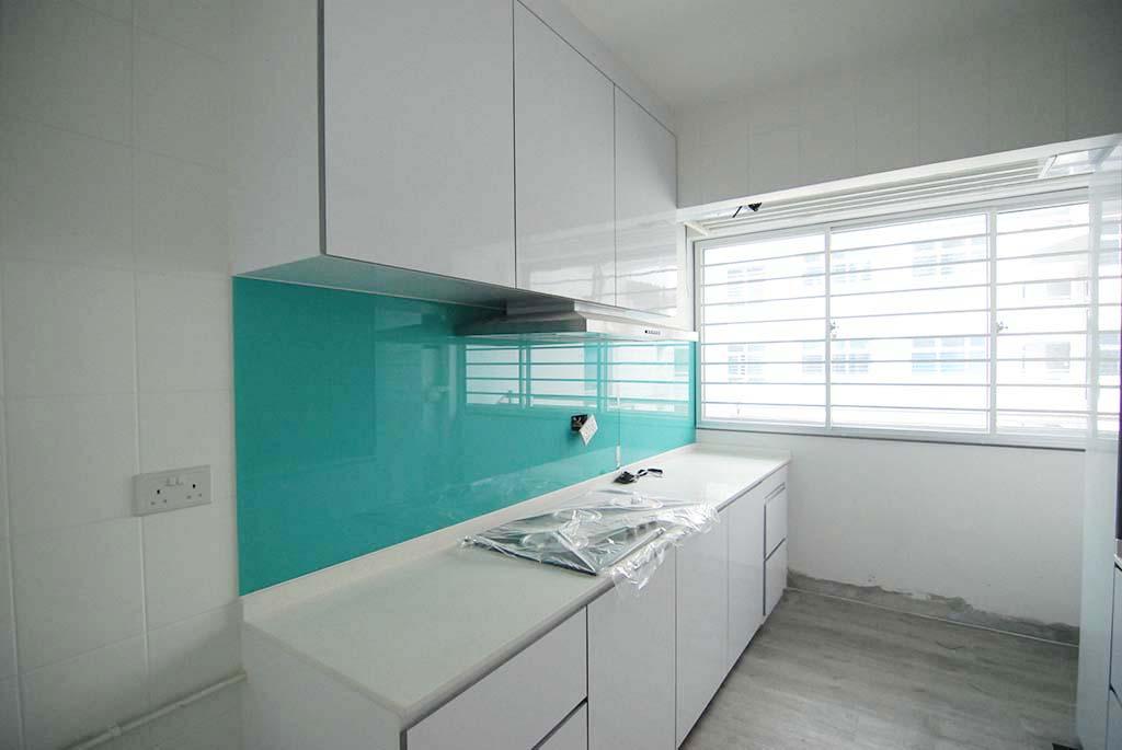 Butterpaperstudio Reno Limbang Green Aquamarine Kitchen Backsplash