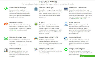 fitur detail hosting jagoweb