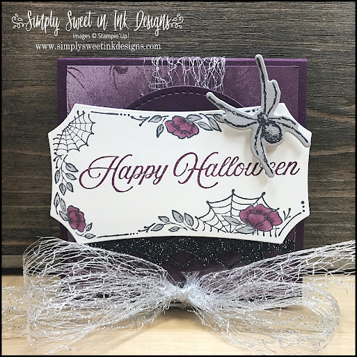 Make a quick and easy Halloween note holder with the Stampin' Up! Magic In This Night suite.
