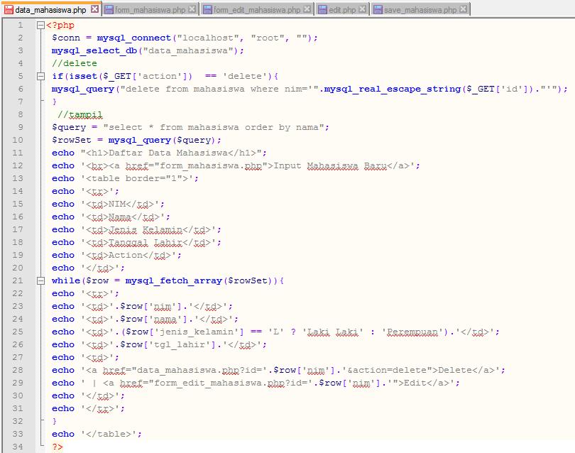 Bayu's Blog: CRUD Database dengan PHP