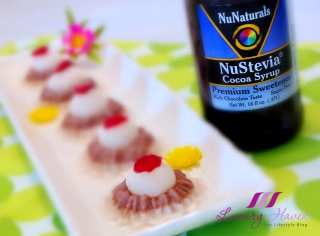pretty nunaturals nustevia cocoa syrup almond jelly recipes