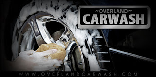 car wheels being washed at overland carwash