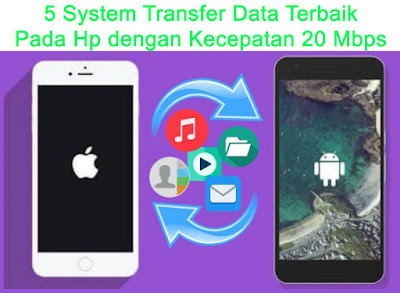 5 System Transfer Data Terbaik Pada Hp dengan Kecepatan 20 Mbps