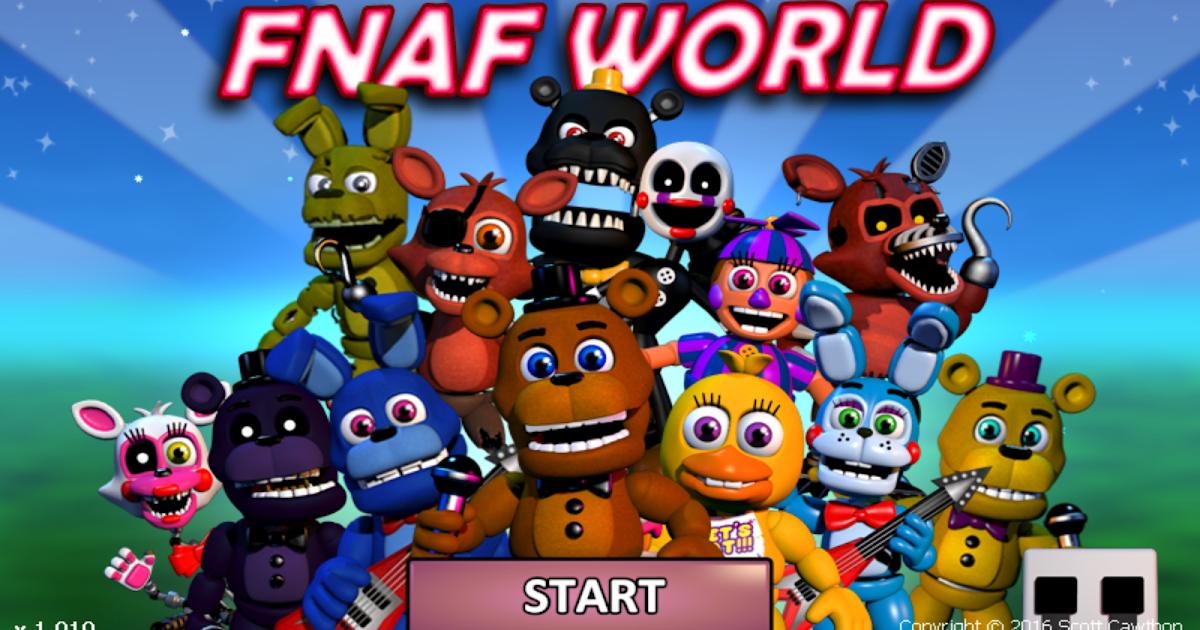 Arrpeegeez Fnaf World Walkthrough Guide