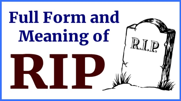 Full Form and Meaning of RIP in Hindi