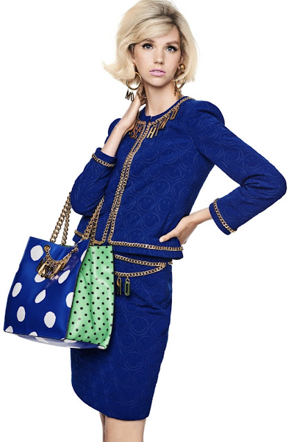 Moschino 1980s style power suit chanel style