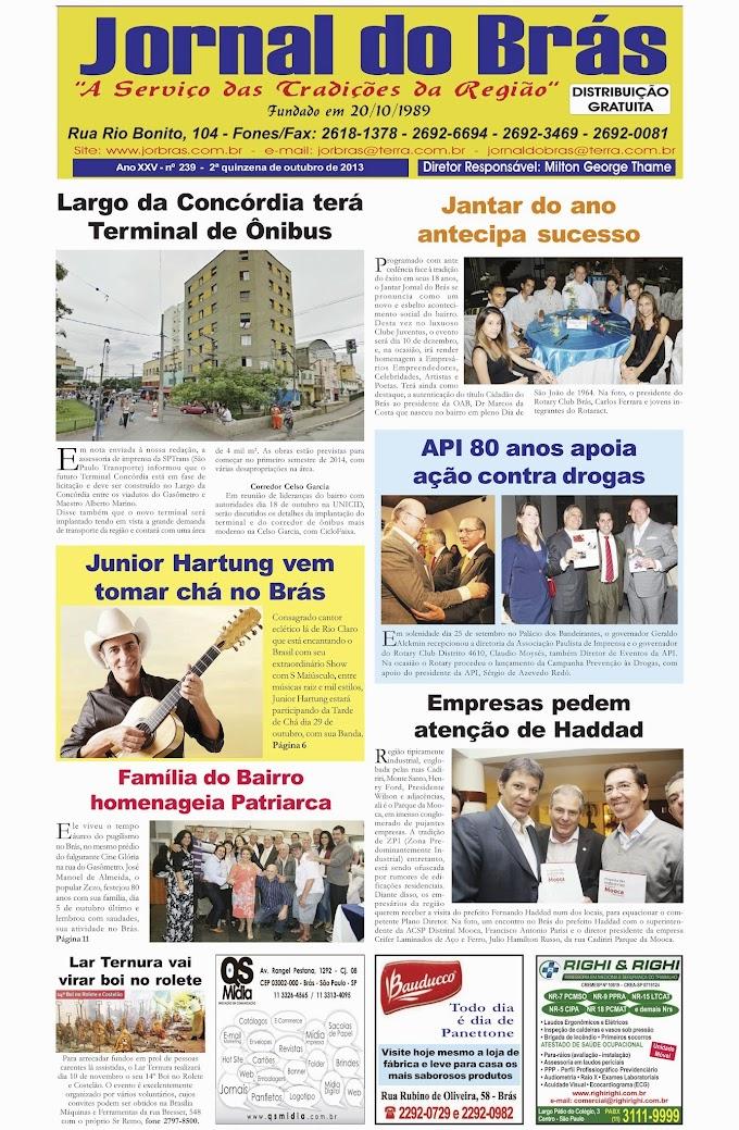 Destaques da Ed. 239 - Jornal do Brás