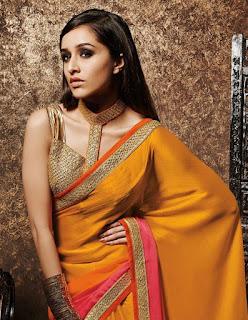 sharddha Kapoor in yellow saree