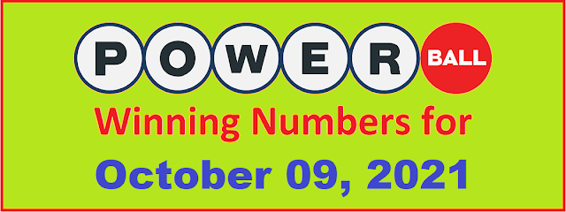 PowerBall Winning Numbers for Saturday, October 09, 2021