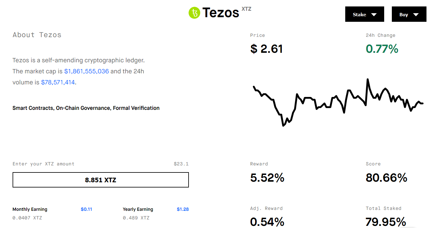https://www.ledger.com/staking-tezos