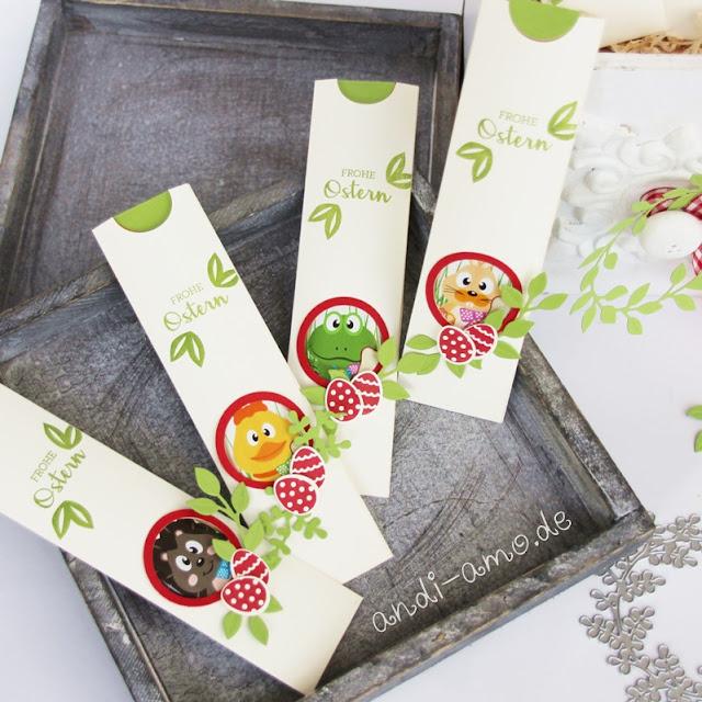 Verpackung für Schoko-Lollis mit Anleitung