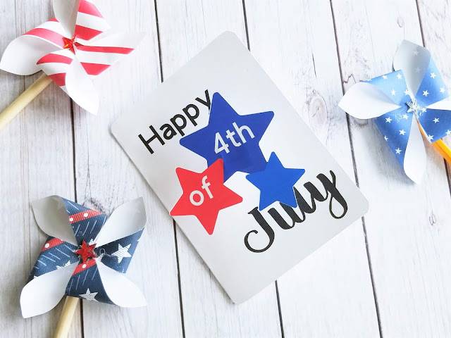 free 4th of July card cut file