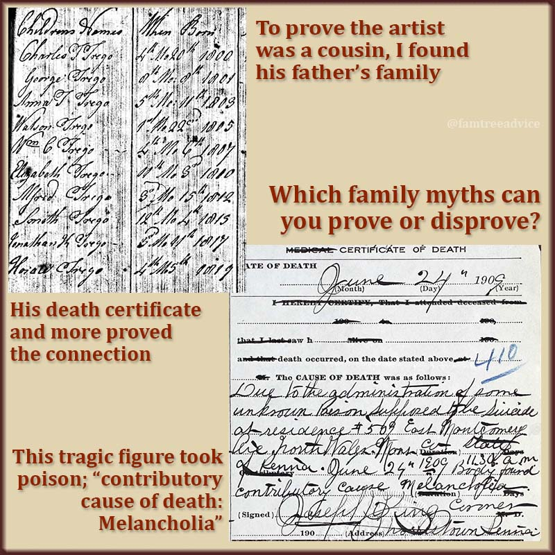 It's great when the facts and documents come together. This bit of family lore is TRUE.