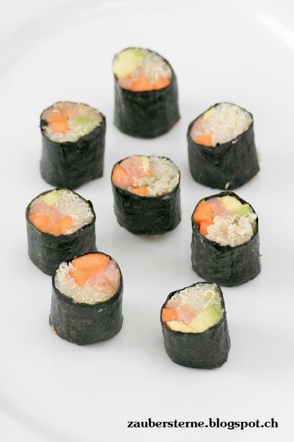 Quinoa Rezepte, Sushi selber machen, Gemüse Sushi, gesunde Sushi