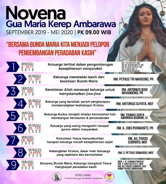 NOVENA GUA MARIA KEREP AMBARAWA 2019-2020