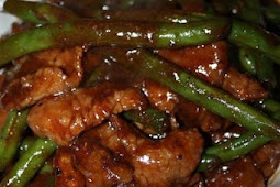Black Pepper Beef with Green Beans
