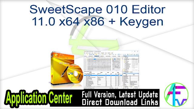 SweetScape 010 Editor 11.0 x64 x86 + Keygen