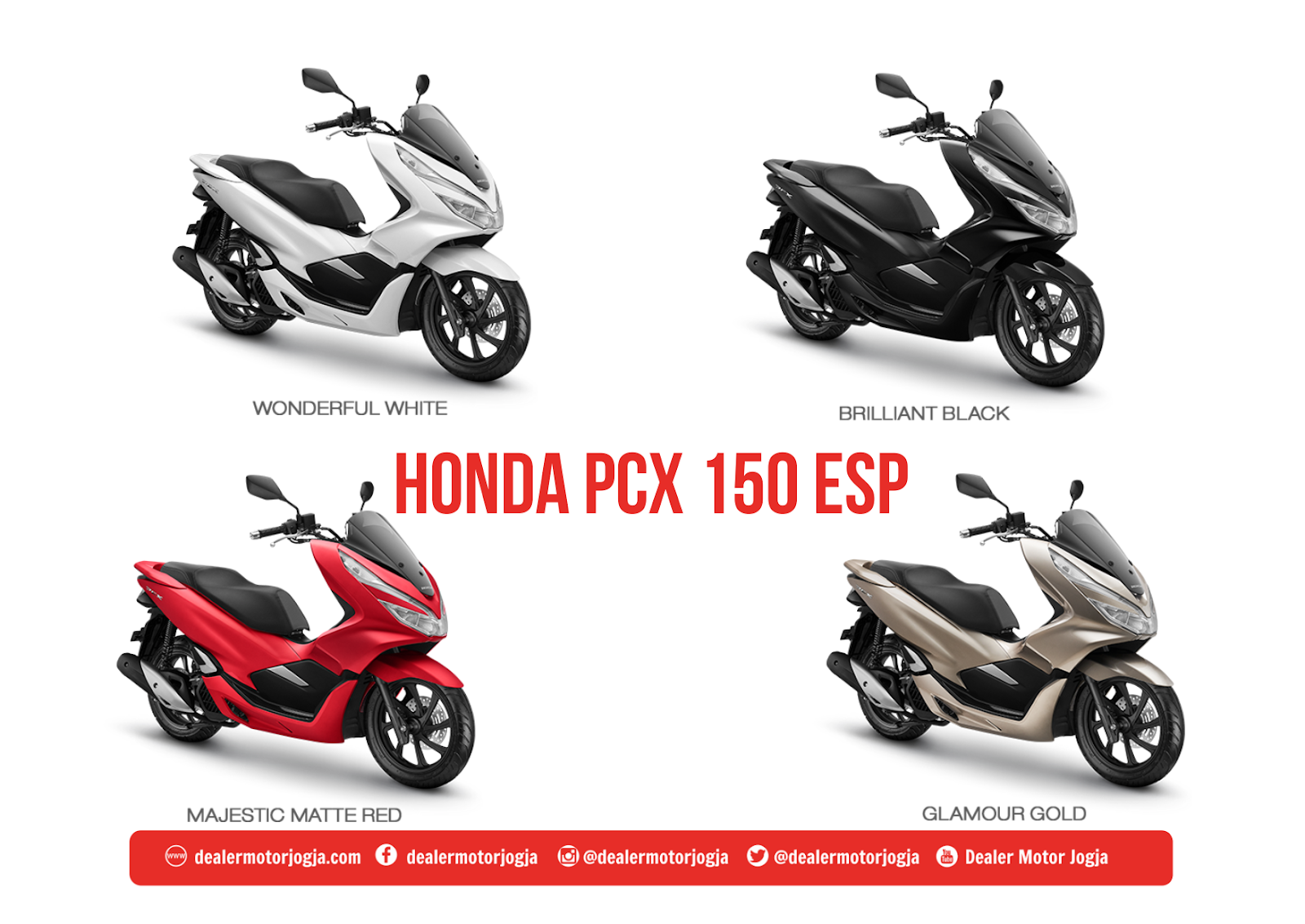 Spesifikasi Motor Honda PCX 150 Jogja 2018 DEALER MOTOR JOGJA