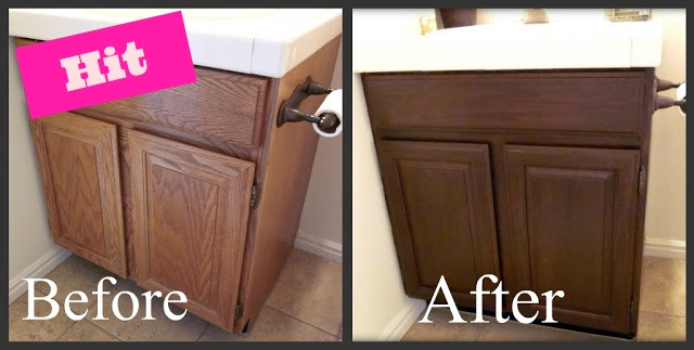Honey I M Home Blog In Review Refinishing Oak Cabinet