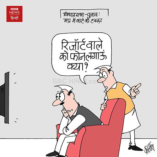 indian political cartoon, indian political cartoonist, cartoons on politics, cartoonist kirtish bhatt, evm, election, election commission