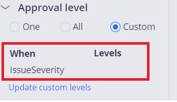 cascading approval with reporting structure -when and no level
