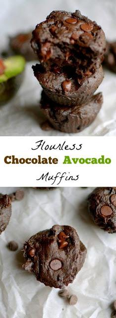 Chocolate Avocado Flourless Muffins (Paleo, Vegan, Gluten-Free!)