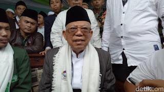 Ma'ruf Amin di Bogor - Foto/detikcom