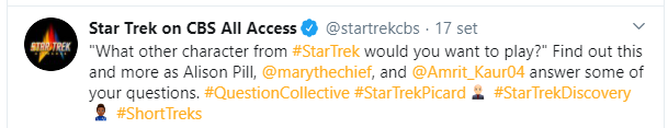 Twitter Star Trek on CBS ALL ACCESS