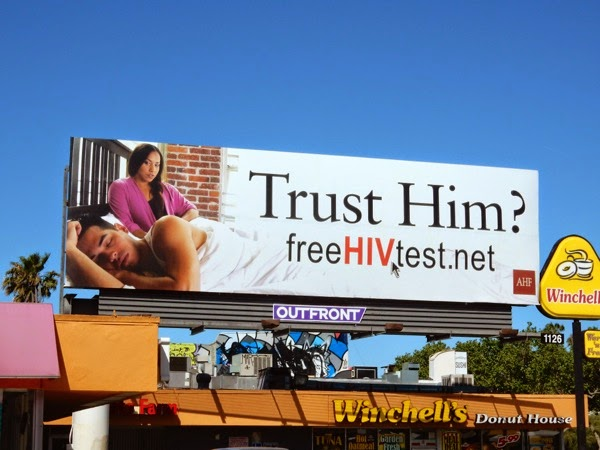 Trust Him HIV test straight billboard